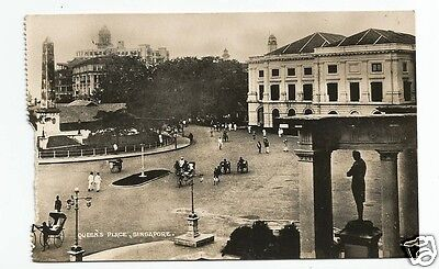 ESN Early Postcard, Queen's Place, Singapore - fault