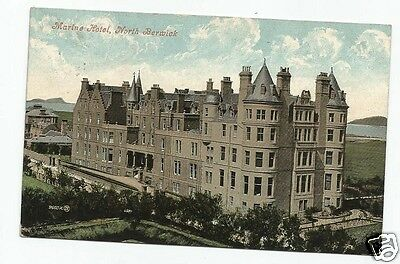 FDO Early Postcard, Marine Hotel, North Berwick 1908