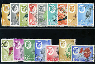 Swaziland 1962 QEII set complete very fine used. SG 90-105. Sc 92-102.