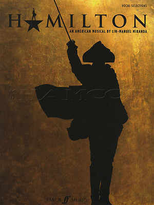 Hamilton Vocal Selections Sheet Music Book Piano Voice Songbook Musical