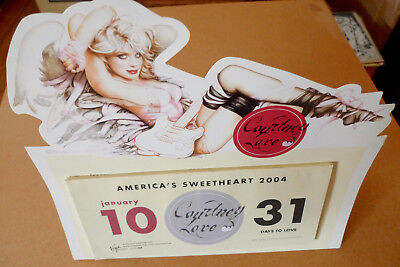 "COURTNEY LOVE 2004 Stand Up Promotional Calendar 12"" x 11"" HOLE Nirvana"