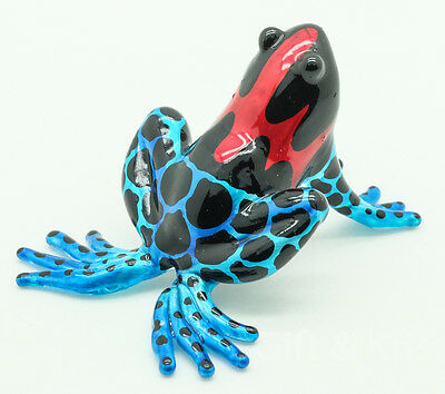 Figurine Animal Hand Blown Glass Amphibian Poison Dart Frog - GPFR011