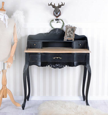 Console Table Vintage Secretary Country Style Desk Black Antique