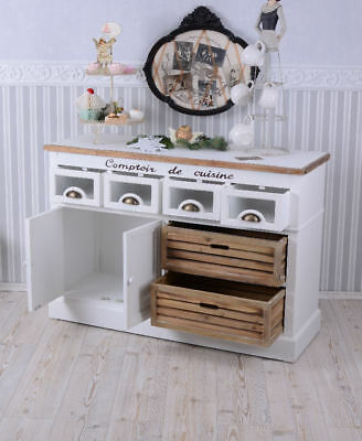 CLOSET COUNTRY STYLE SIDEBOARD SHABBY CHIC WHITE CABINET KITCHEN CUPBOARD wood