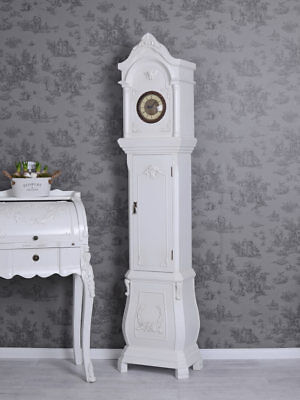 GRANDFATHER CLOCK Country Style White Decoration Antique Style 70inches