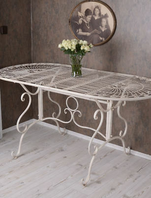 metalltisch garten shabby chic gartentisch metall tisch weiss eisentisch chf picclick ch. Black Bedroom Furniture Sets. Home Design Ideas