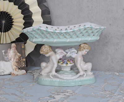 JARDINIERE Antique Style Bowl Cupid ROCOCO Porcelain