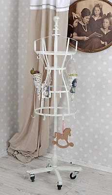 Coat Rack White Bust Hooks Tailor's Dummy Mannequin
