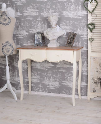 shabby chic konsole konsolentisch anrichte beistelltisch schminktisch schublade eur 119 84. Black Bedroom Furniture Sets. Home Design Ideas