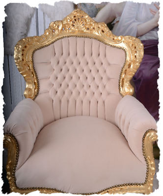 Chateau Armchair Baroque Style Retro Chair Wing Chair