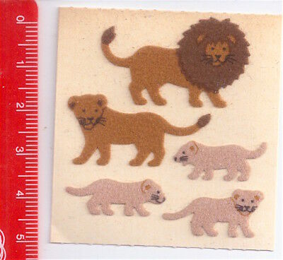 LION FAMILY - LEONE FAMIGLIA  80s Sandylion Canada sticker adesive kawaii fuzzy
