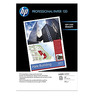 NEW! Hp Professional Laser Paper A3 297 Mm X 420 Mm 120 G/M� Grammage Glossy 97