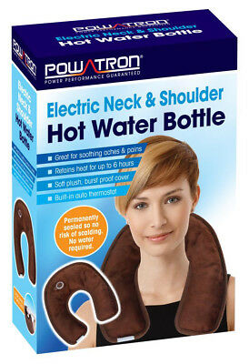 Electric Neck & Shoulder Hot Water Bottle Thermostatically Controlled No Water
