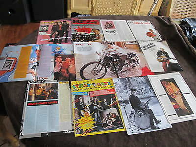 Stray Cats Vintage Fr. Us Clippings,poster ,last Chance!