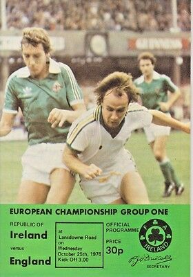 REPUBLIC OF IRELAND v ENGLAND 1978 EURO 1980 QUALIFYING MATCH IN DUBLIN
