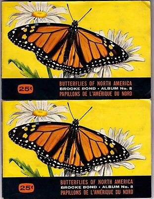 Butterflies of North America Red Rose Tea Card Album # 8 COMPLETE lsc12