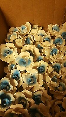 30 Vintage porcelain Capodimonte blue & white roses,  Italy, Lamps Chandeliers