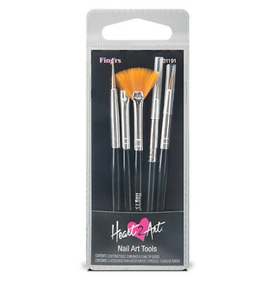 FING'RS Nail Art Tools HEART 2 ART Dotting+Brushes+Tip Guides DISCONTINUED 31191