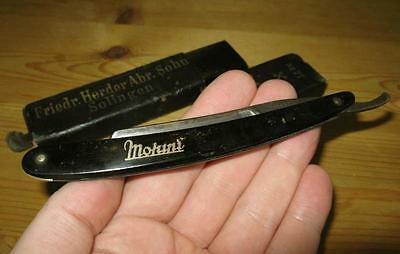 RASIERMESSER straight razor MOHINI Solingen GERMANY Best Silver Steel HERDER Box