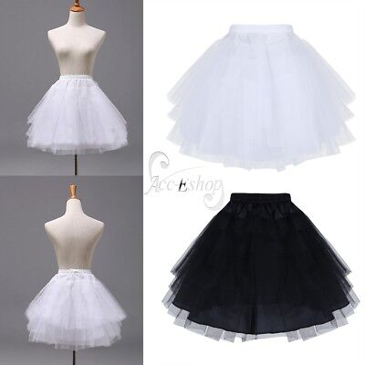 Kids Girls Petticoat Tutu Crinoline Underskirt Hoopless Slips For Wedding Dress