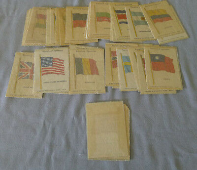1934 Kensitas 34/60 National Flags Cigarette Silks With Wrapper