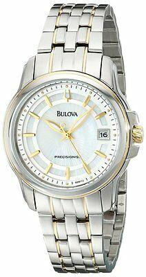 NEW Bulova 98M112 Women's Two Tone Precisionist Mother-of-Pearl Dial Watch $399