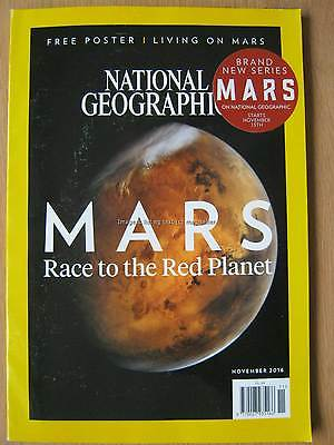 National Geographic November 2016 Mars Changing Cuba Sri Lanka Fragile Peace