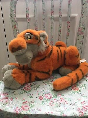 Disney Store Jungle Book Shere Khan Tiger Soft Plush Toy Grey Face Beanie