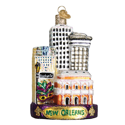 """""""New Orleans"""" (20089) Old World Christmas Glass Ornament w/ OWC Box"""