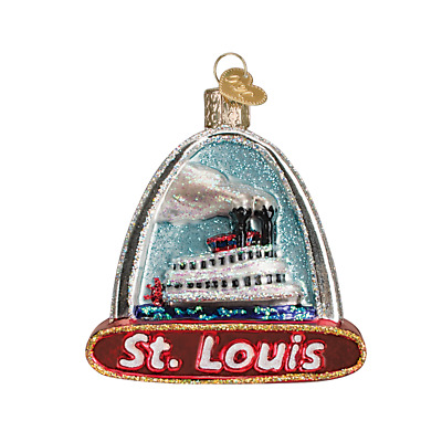 """""""St. Louis Arch"""" (20073) Old World Christmas Glass Ornament w/ OWC Box"""