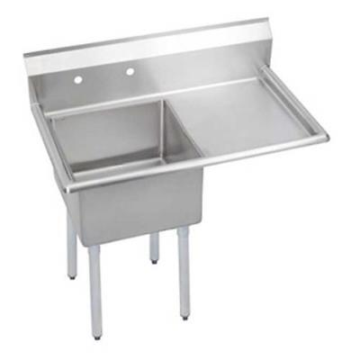 Elkay - S1C18X18-R-18X - 38 1/2 in One Compartment Sink w/ Right Drainboard