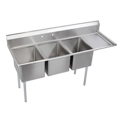 Elkay - 3C18X24-R-18X - 78 1/2 in Three Compartment Sink w/ Right Drainboards