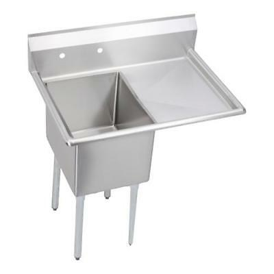 Elkay - E1C20X20-R-20X - 42 1/2 in One Compartment Sink w/ Right Drainboard