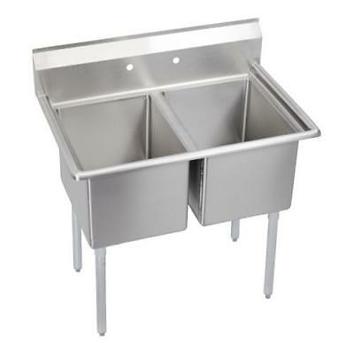 Elkay - 14-2C16X20-0X - 14 in Standard 39 in Two Compartment Sink