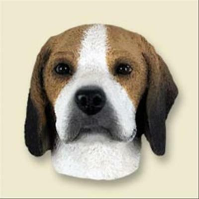 Beagle Head Painted Stone Resin MAGNET