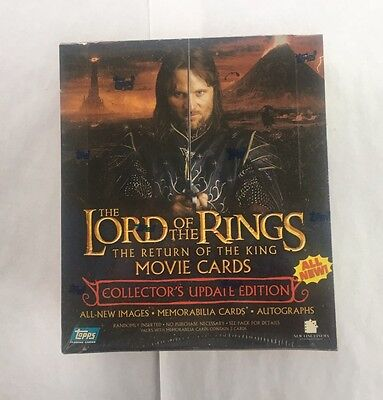 Topps LOTR Lord of the Rings Return of the King Movie Cards Update Box Auto?