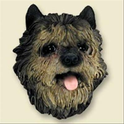 Cairn Terrier Brindle Dog Head Painted Stone Resin MAGNET