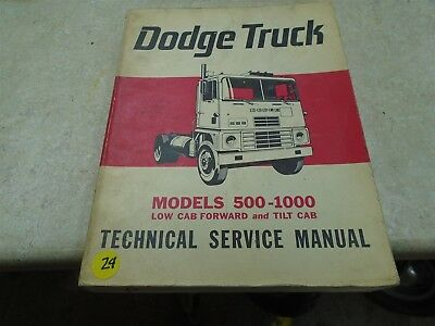Dodge Truck 500-1000 Low Tilt Cab Used Technical Service Manual VP 60s VP-CM24