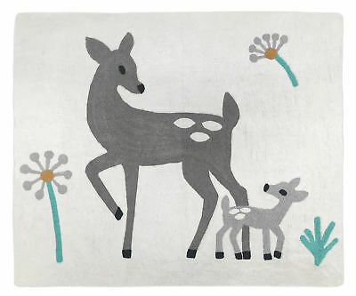 Baby Kids Floor Bedroom Rug For Sweet Jojo Designs Grey White Deer Bedding Sets