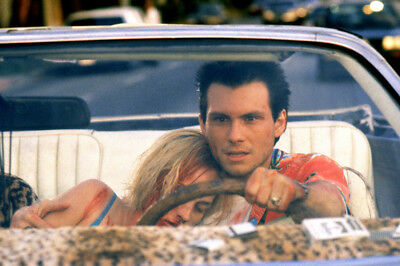 True Romance Christian Slater Patricia Arquette Bloodied At Wheel Of Convertible