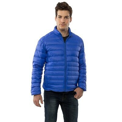 Alpine Swiss Niko Men's Down Jacket Puffer Bubble Coat Packable Light Warm Parka