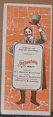 1989 Street Maps for Fallbrook & Temecula California by Mission Realty