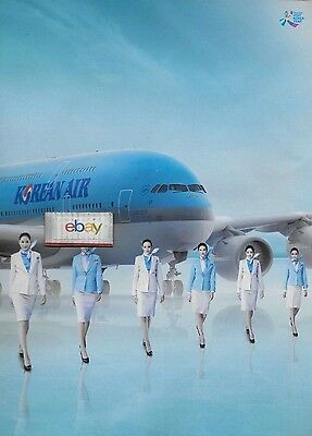 Korean Air Airbus A380-861 Our Airline Is All About You 2 Pg F/a Ad