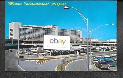 Miami International Airport Hotel & Tower View 1960's Postcard
