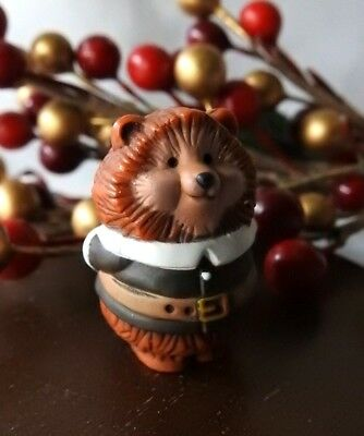 Hallmark Merry Miniature Thanksgiving 1984 Pilgrim Hedgehog