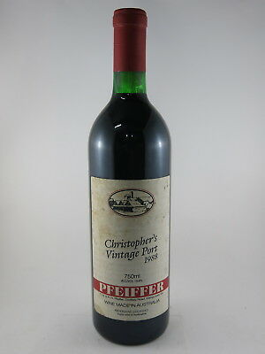 Pfeiffer Christophers Vintage Port 1988, Perfect 30th Birthday Gift in 2018?