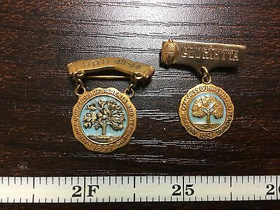 2 NATIONAL CONGRESS OF PARENTS AND TEACHERS PINS 1897  1 is GOLD FILLED
