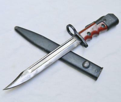 UK WW2 era No.7 MK1/L LAND SERVICE bayonet & scabbard; RARE Elkington & Co. type