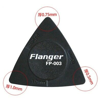 10Pcs Flanger Acoustic Bulk Guitar Pick Plectrum 3 thickness in 1 Anti Slip FA