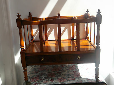 Vintage Bevan & Funnell Canterbury Music/Magazine Rack Yew Wood? with Draw